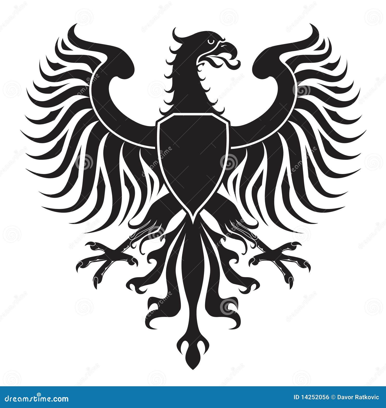 Original eagle crest. Easy to handle, change colors etc. Vector ...
