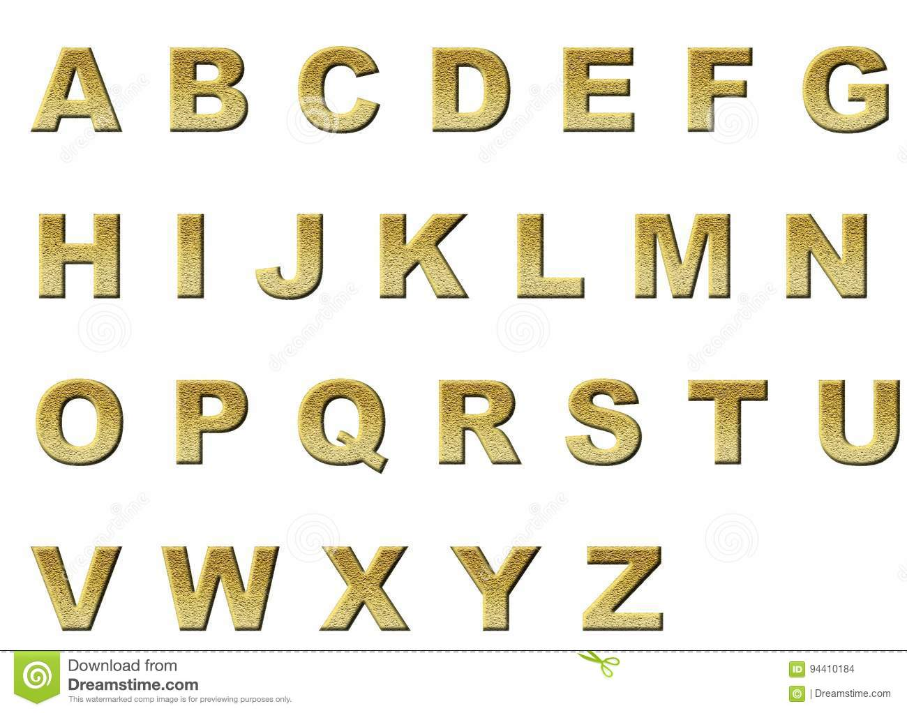 Original english alphabet color gold in sequins letters stock photo image of letters glitter - Lettre alphabet original ...