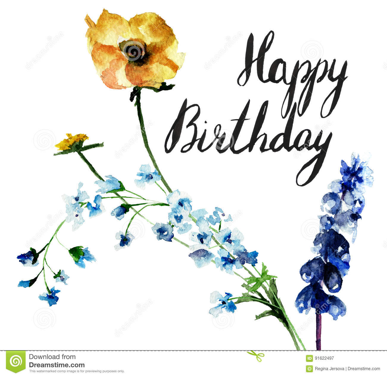Original floral background with flowers and title happy birthday original floral background with flowers and title happy birthday izmirmasajfo