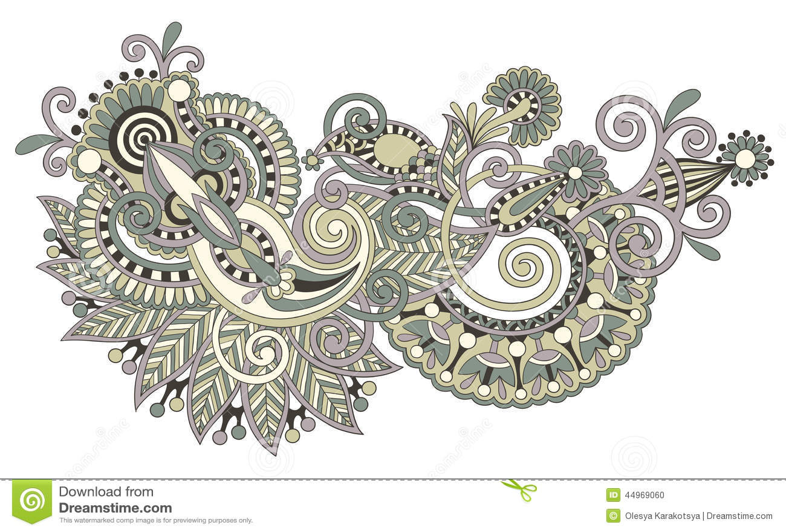Line Art Ornate Flower Design : Original hand draw line art ornate flower design stock