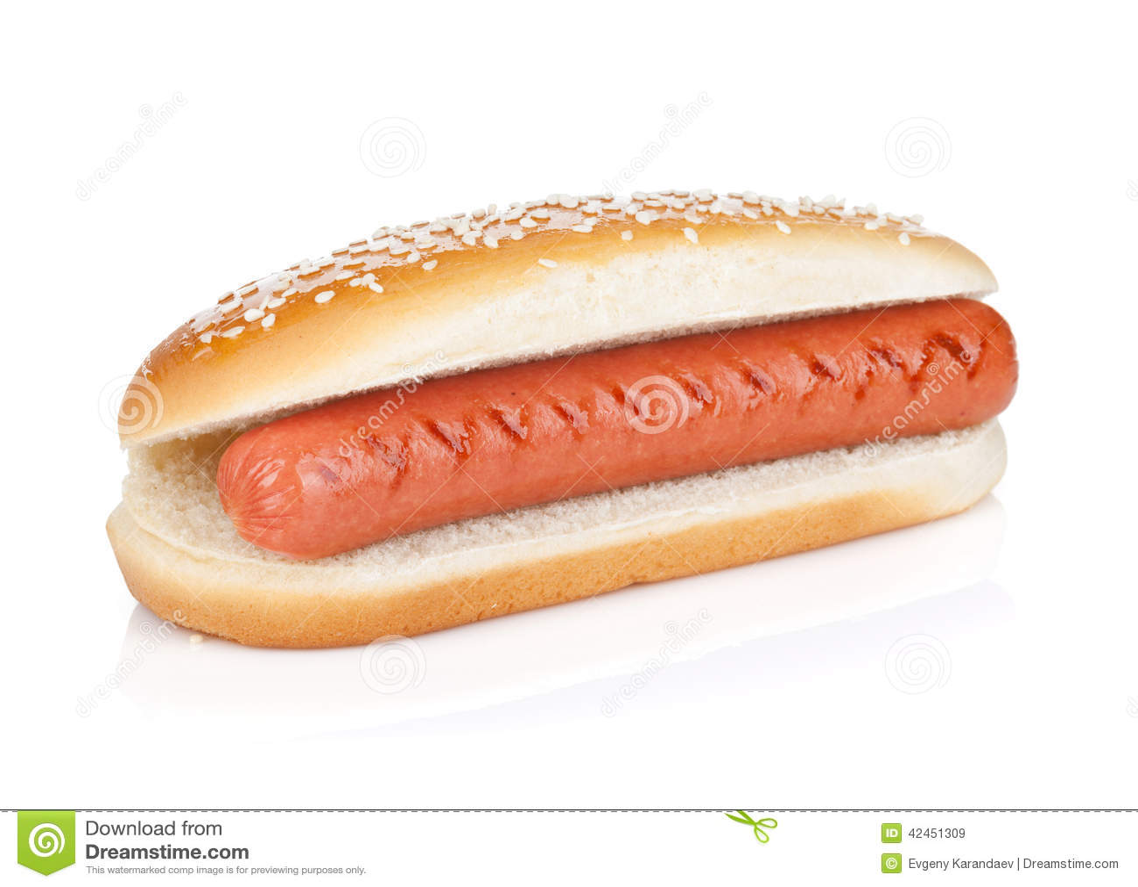 original hot dog stock photo image 42451309. Black Bedroom Furniture Sets. Home Design Ideas
