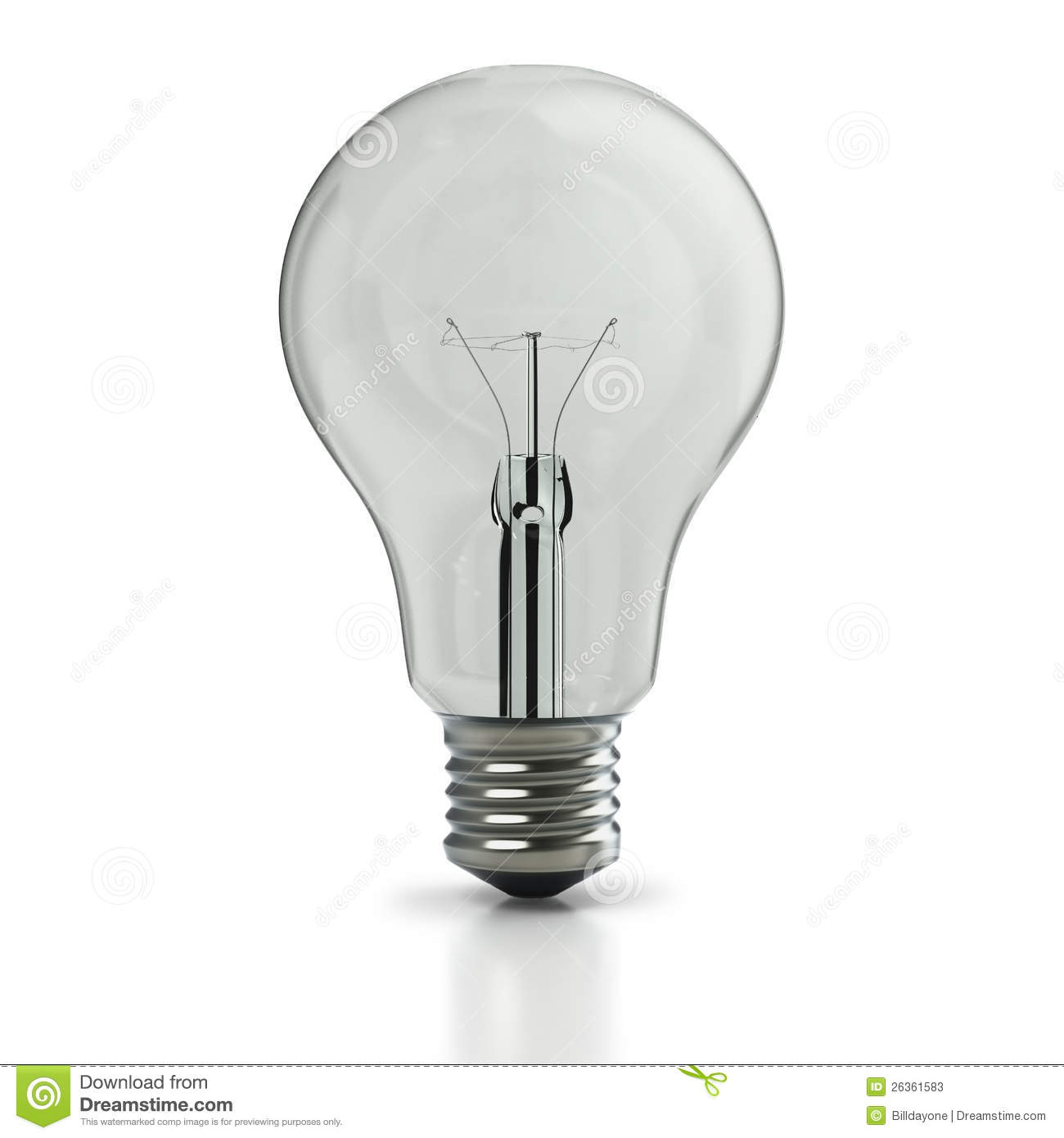 Original Incandescent Light Bulb Stock Photos Image 26361583