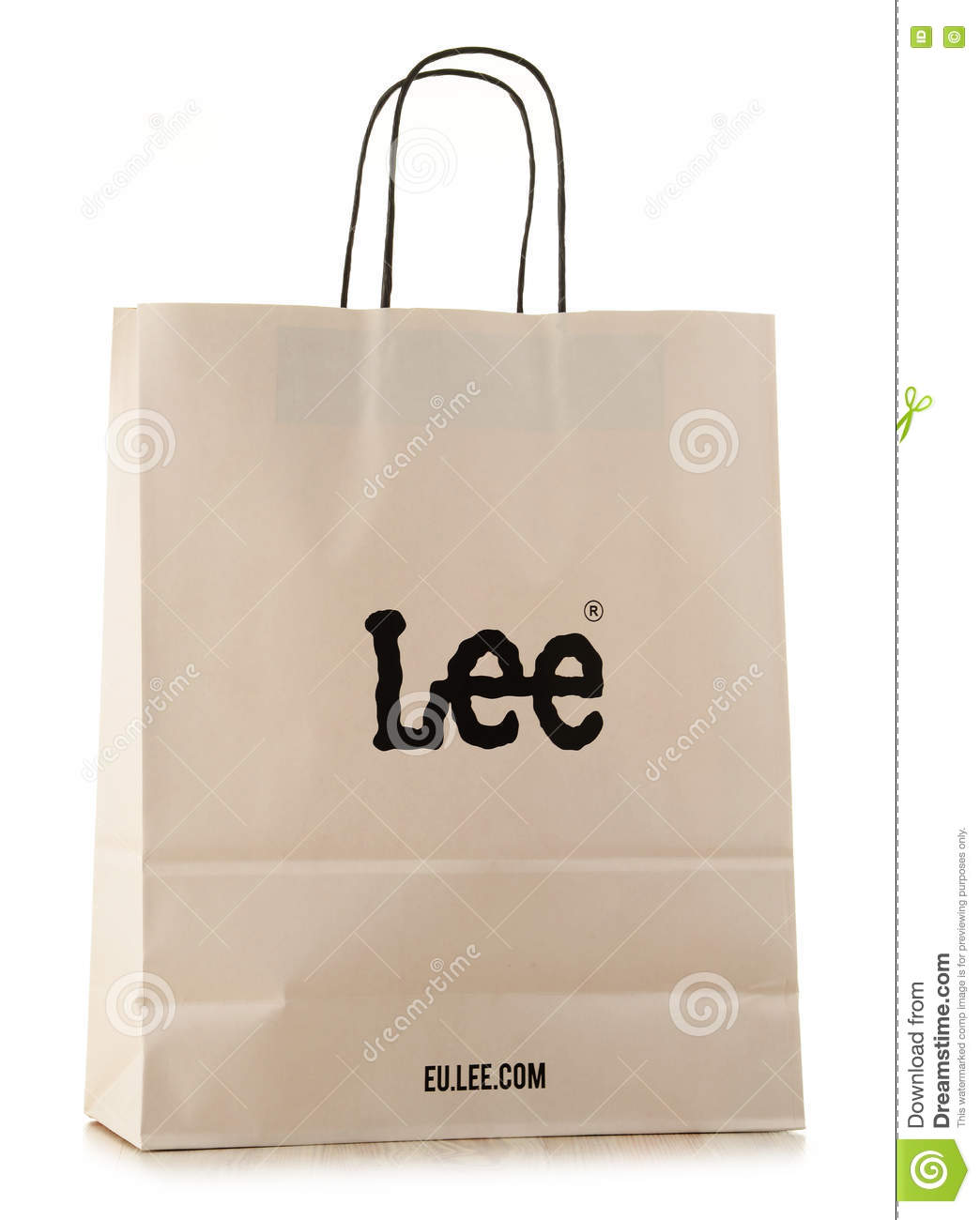 e1d88ba3b8 Editorial Stock Photo. Original Lee paper shopping bag isolated on white