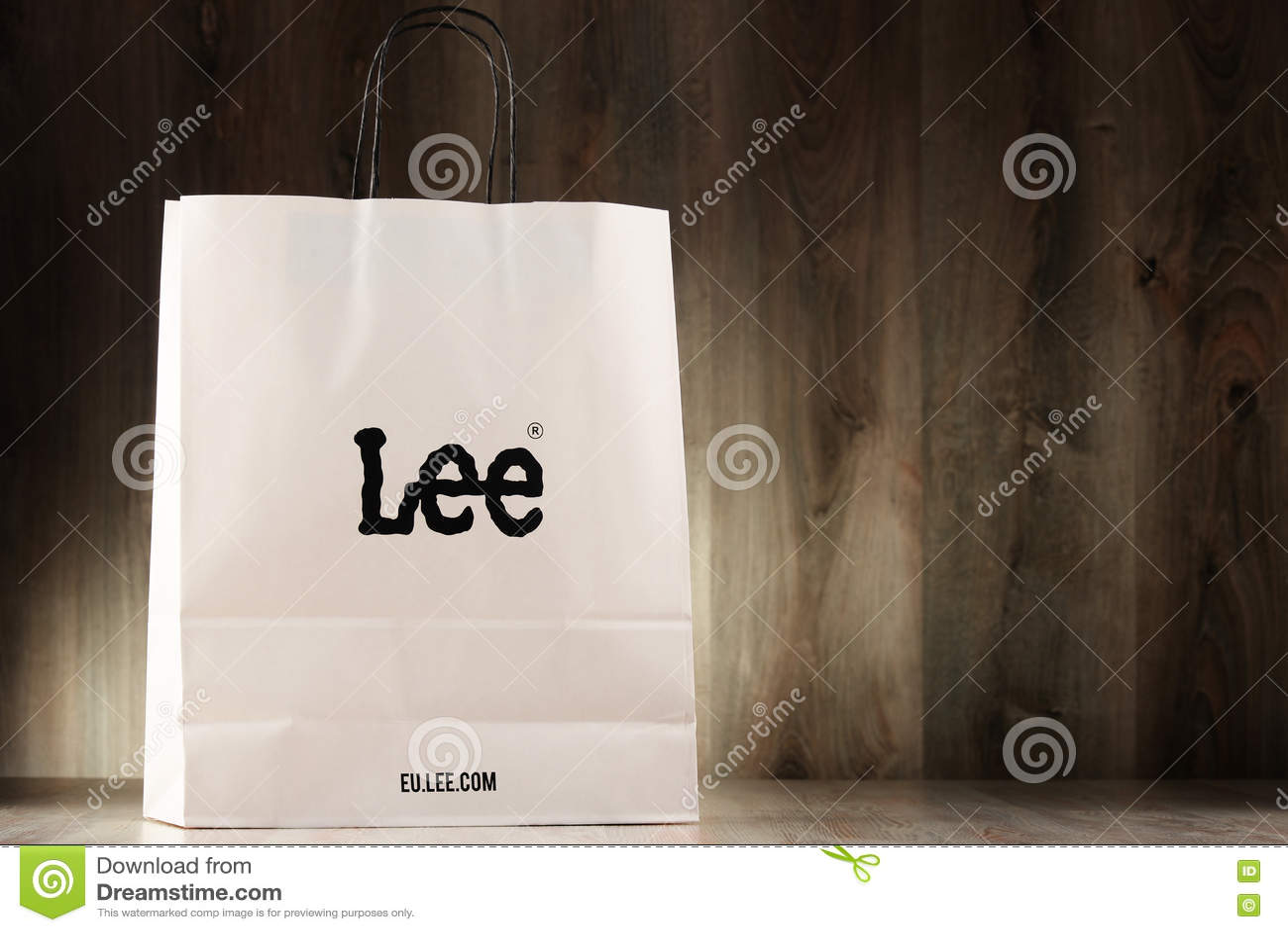 b8753d4cd6 Original Lee Paper Shopping Bag Editorial Stock Photo - Image of ...