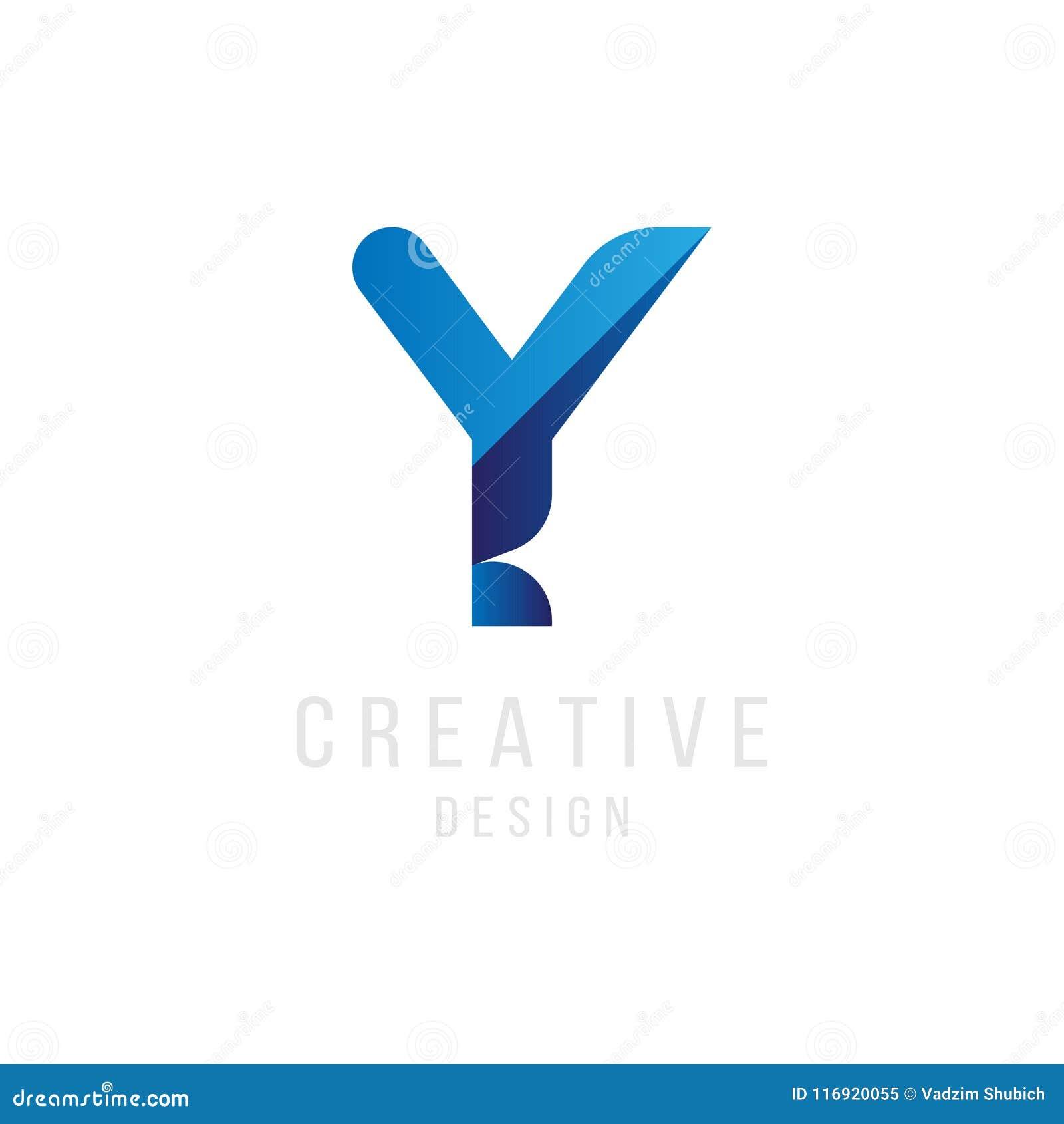 Original Letter Y In Blue Colour For Logotype Vector Sign Logo