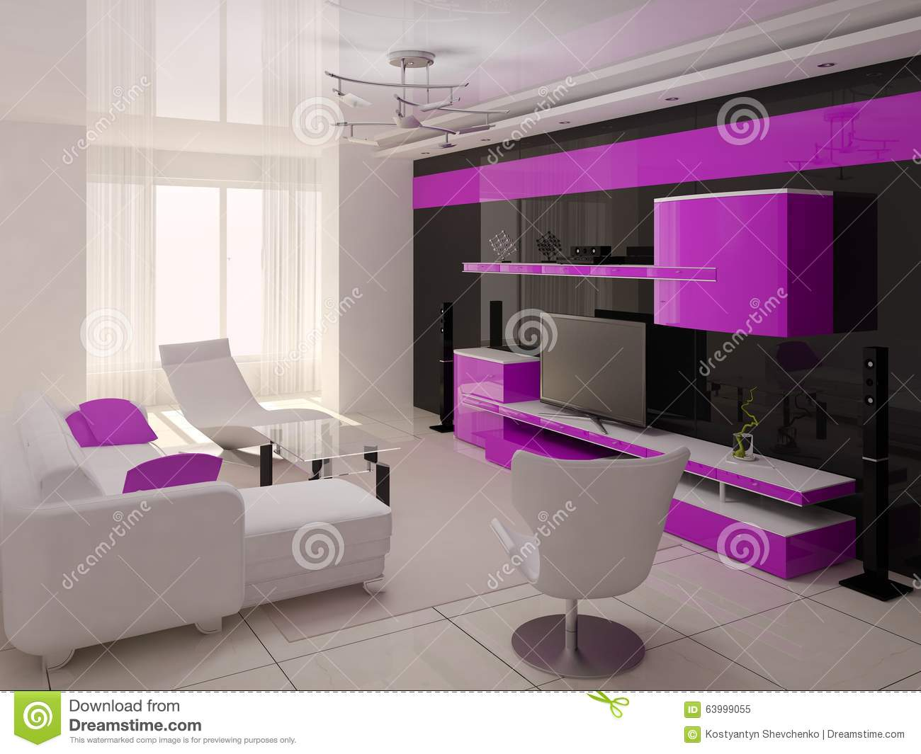 Living Room Furniture Hawaii original living room hi-tech. stock illustration - image: 63999055