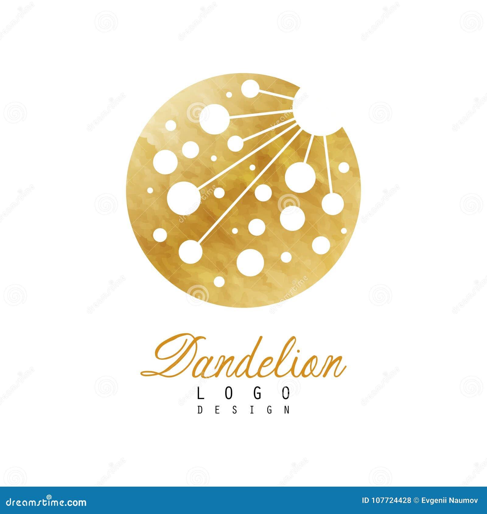 Original logo design of dandelion flower symbol of medical herb royalty free stock photo biocorpaavc Choice Image