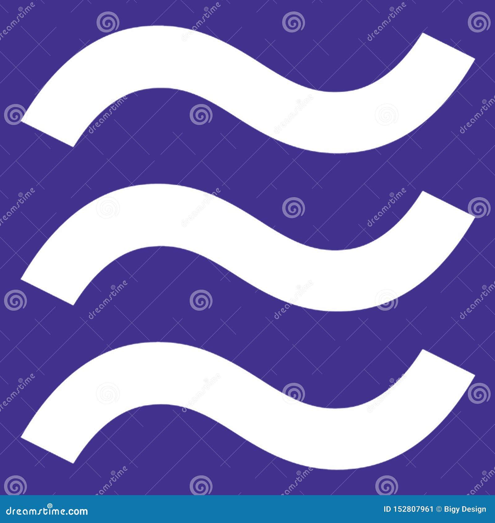 Original- logo för Våg på original- bakgrundsfärg