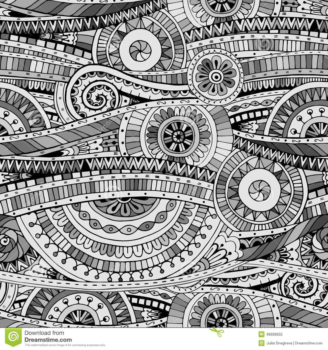 Original mosaic drawing tribal doddle ethnic pattern for Drawing mosaic pictures