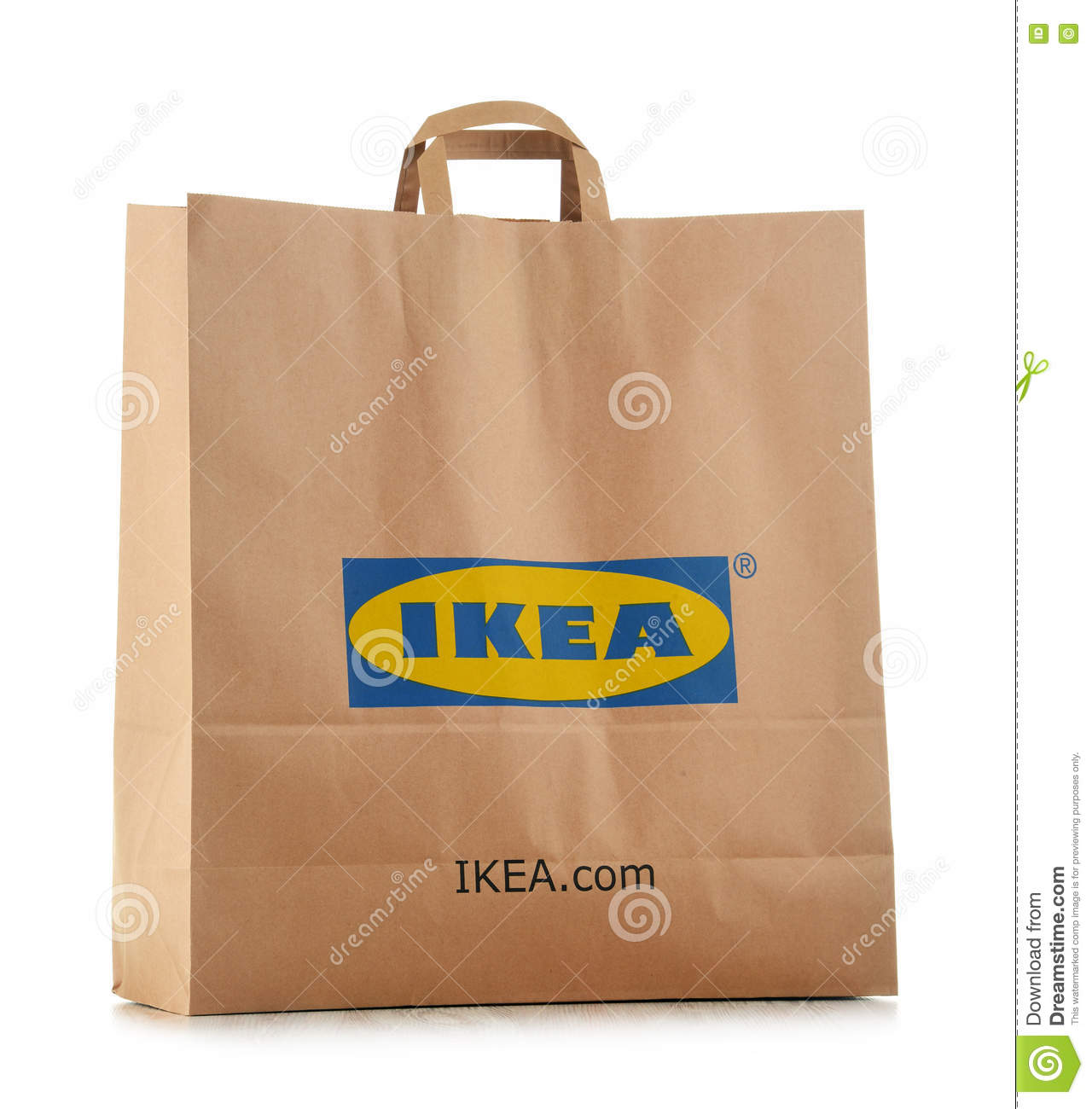 Original Pase For Ikea Pappersshopping Som Isoleras Pa Vit