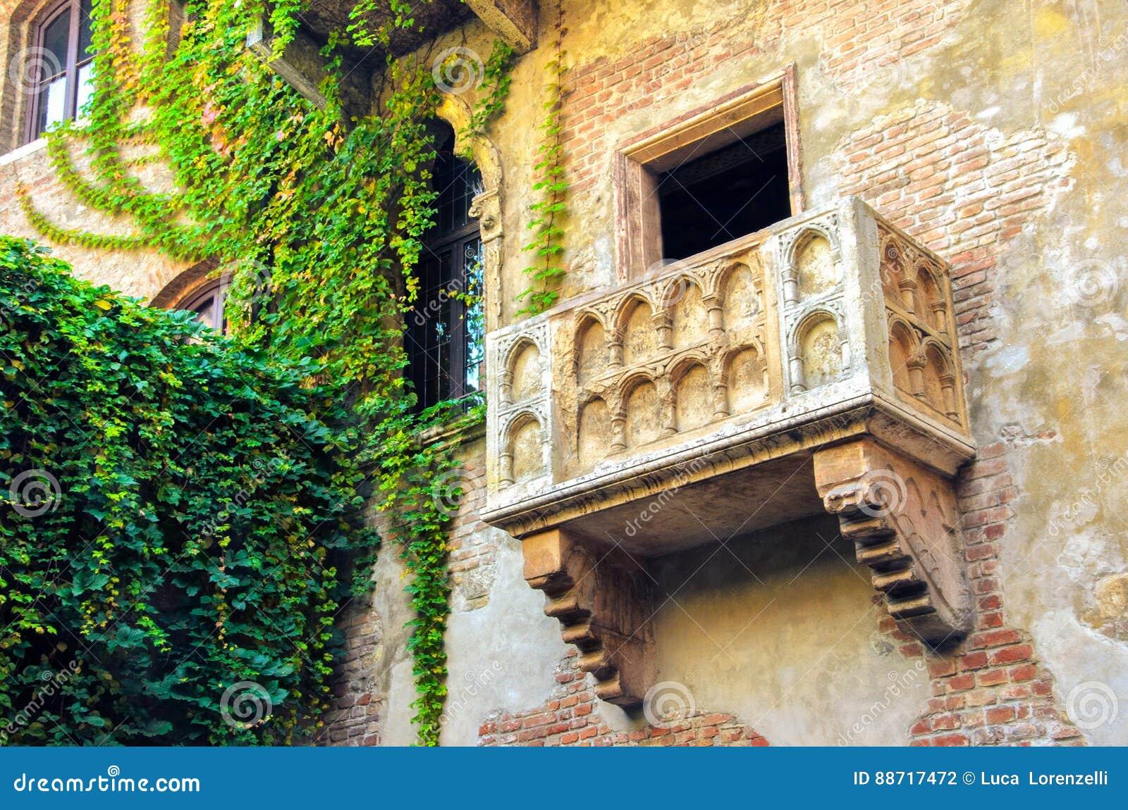 The Original Romeo And Juliet Balcony Located In Verona