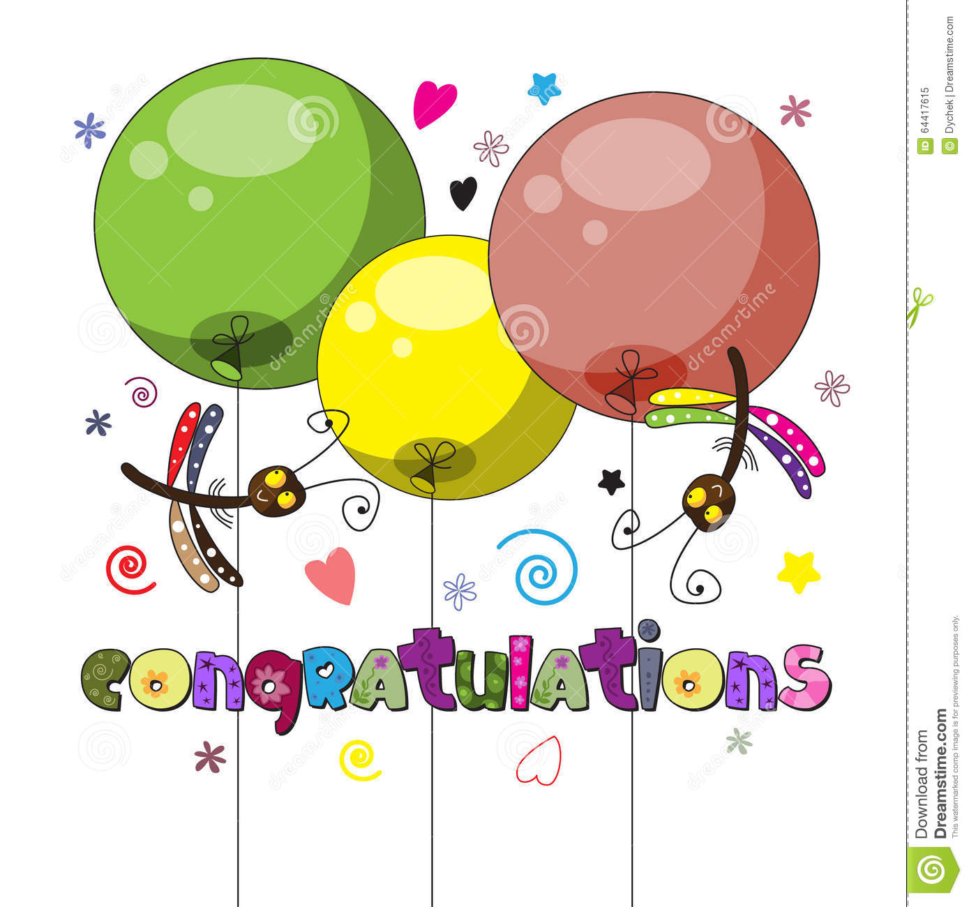 the original spelling of the word congratulations stock vector