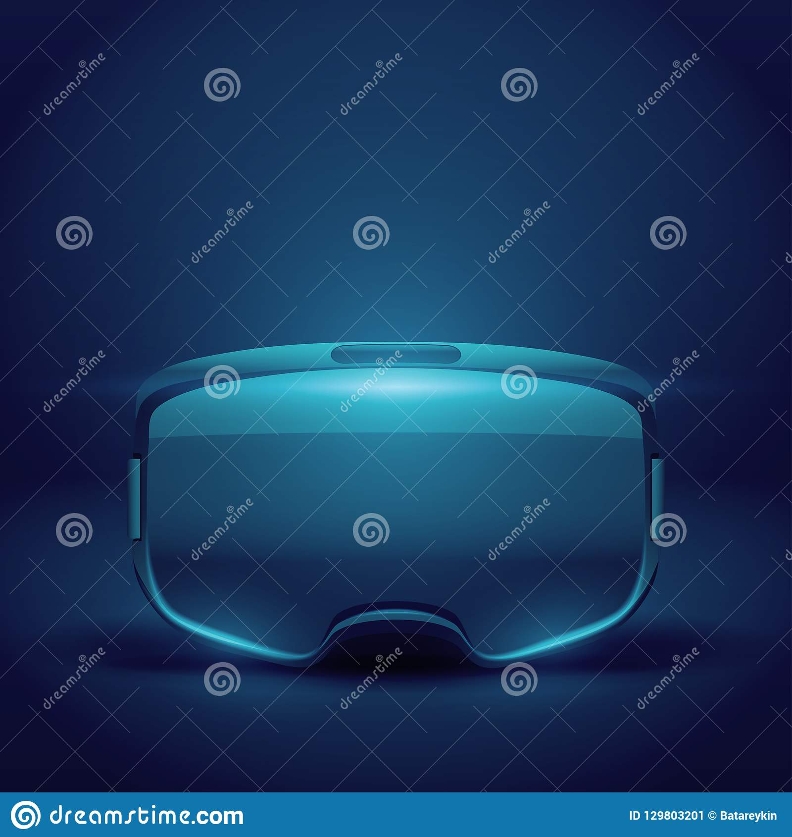 Stereoscopic 3d VR headset presentation