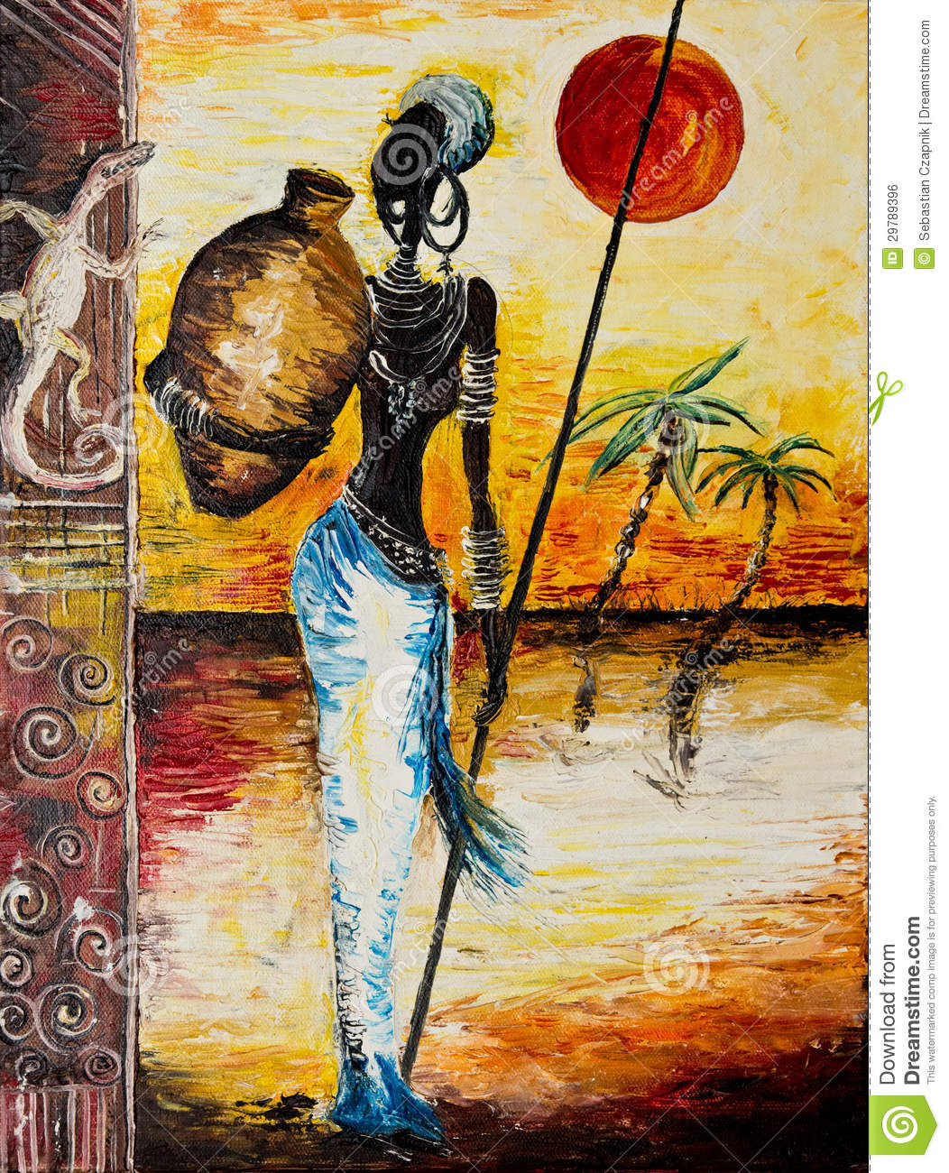 Details Of African Woman Painting Stock Photo Image Of Theme
