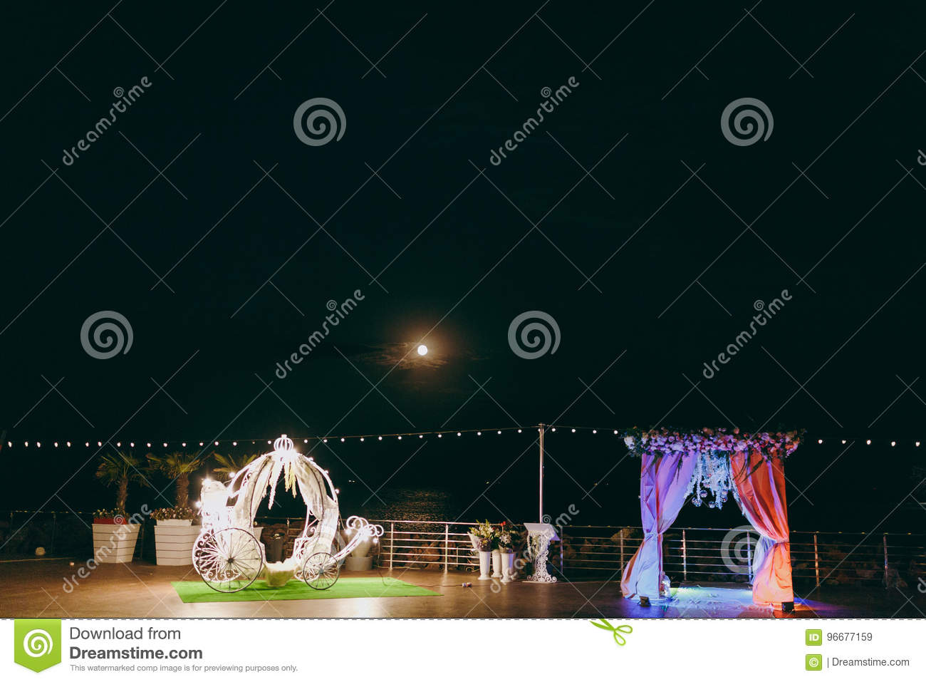 Original Wedding Floral Decoration Stock Image Image Of