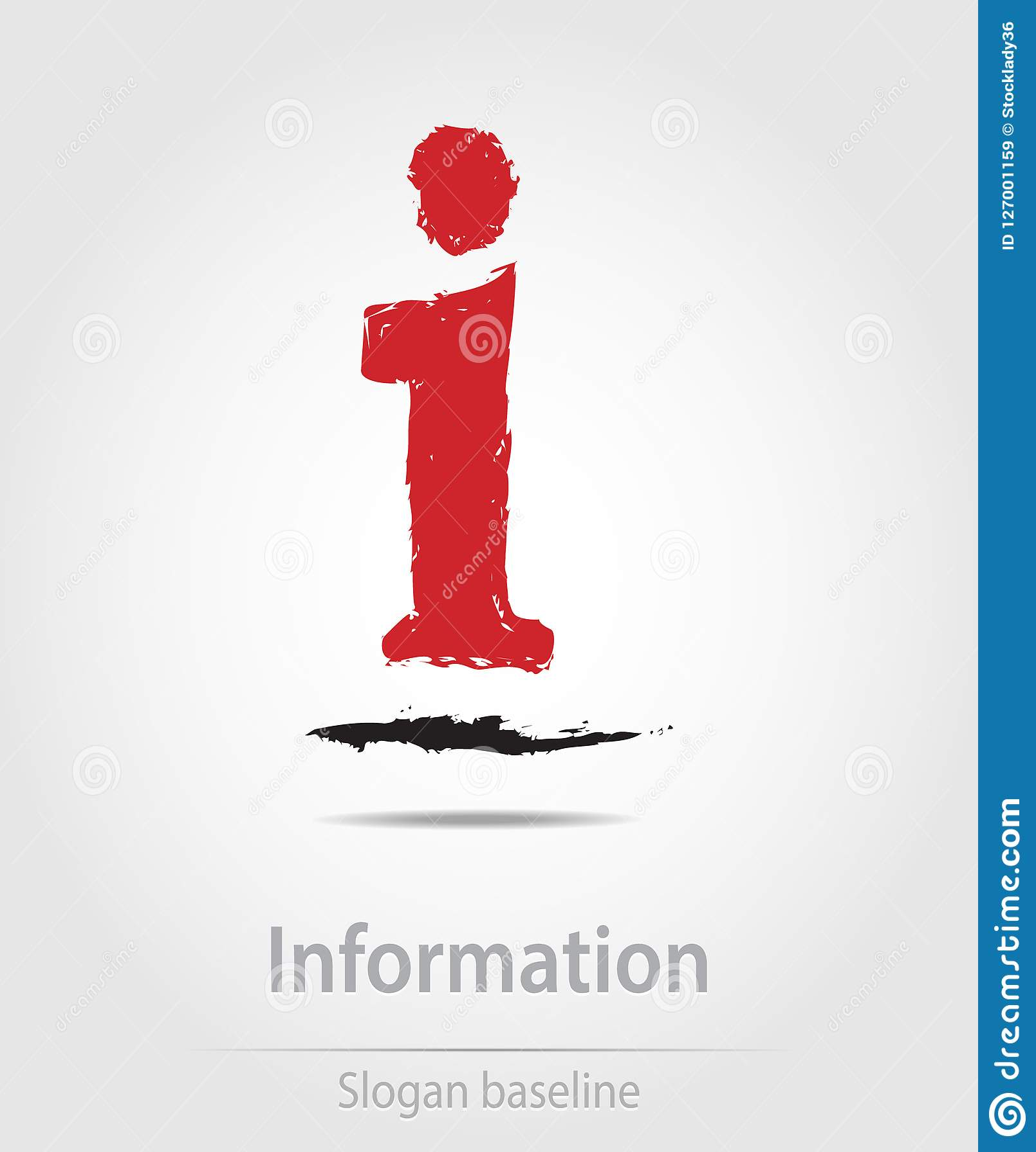 Originally created information vector business icon