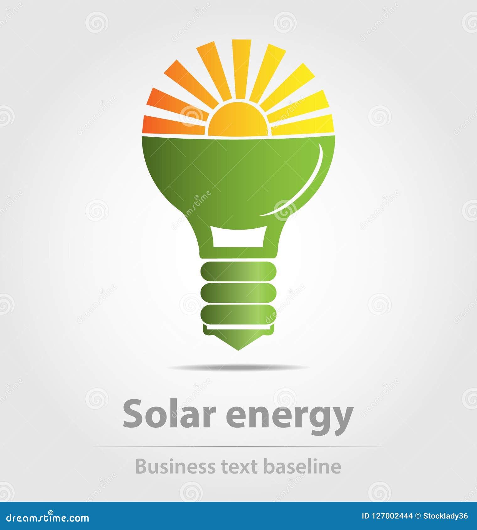 Originally Designed Solar Energy Vector Business Icon Stock