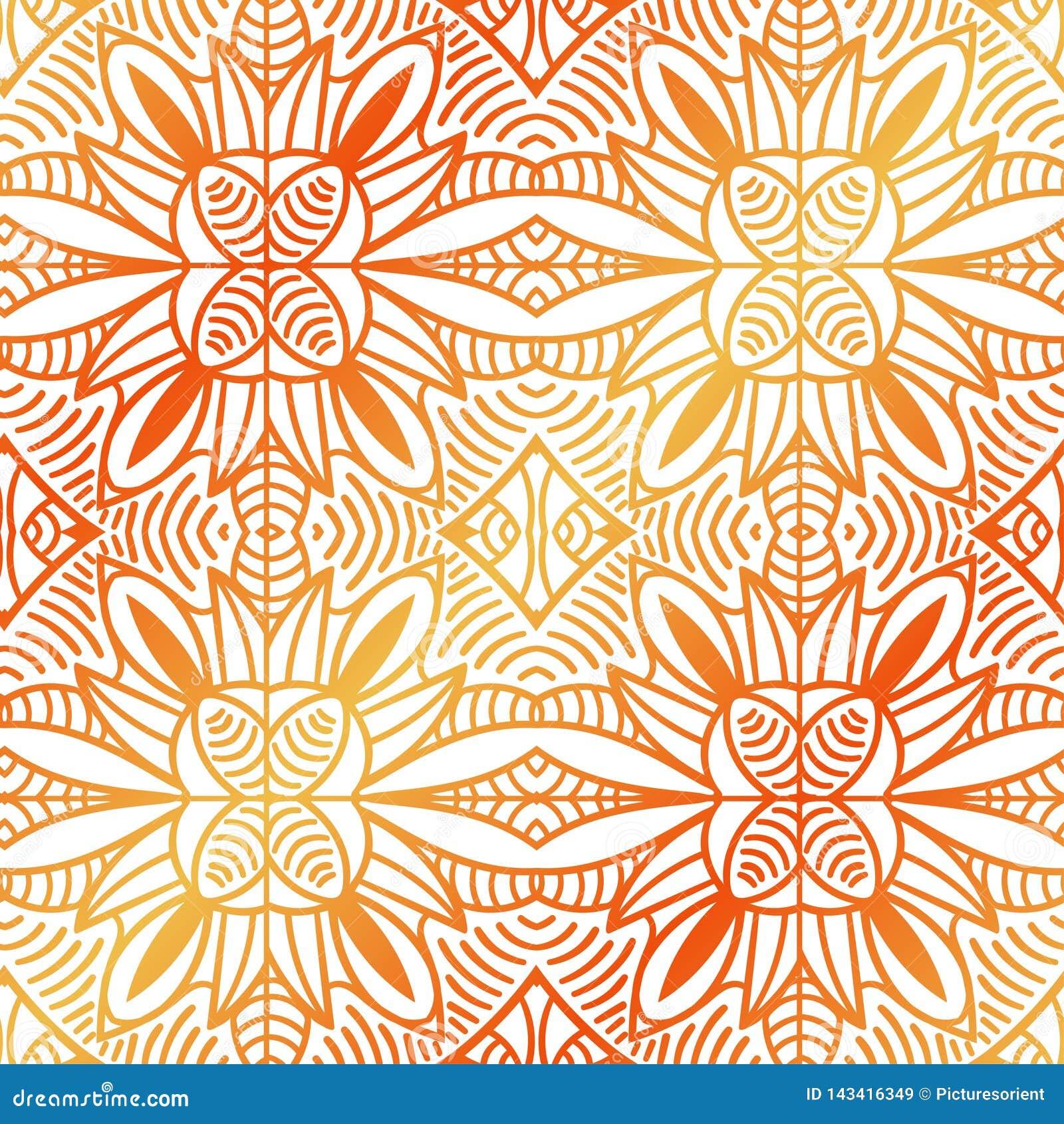 Origine ethnique ornementale décorative tribale de résumé