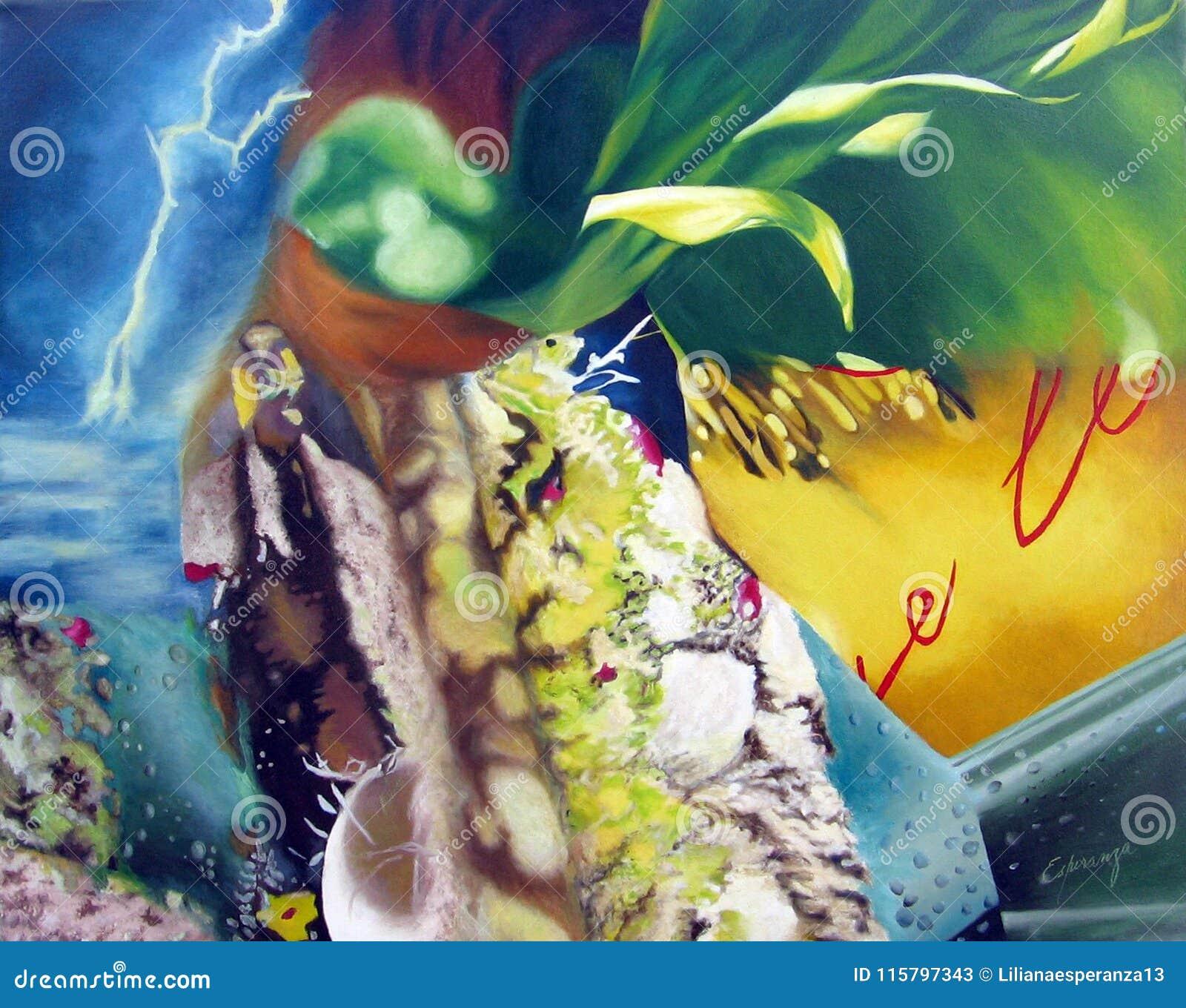 Origineel het schilderen abstract kunstwerk oleo