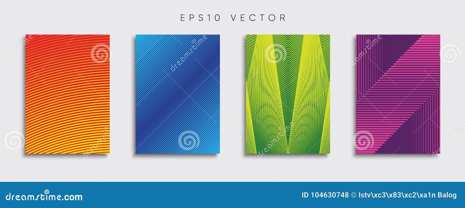 Download Origineel Nieuw Minimaal Vectordekkingsontwerp Vector Illustratie - Illustratie bestaande uit toekomst, brochure: 104630748