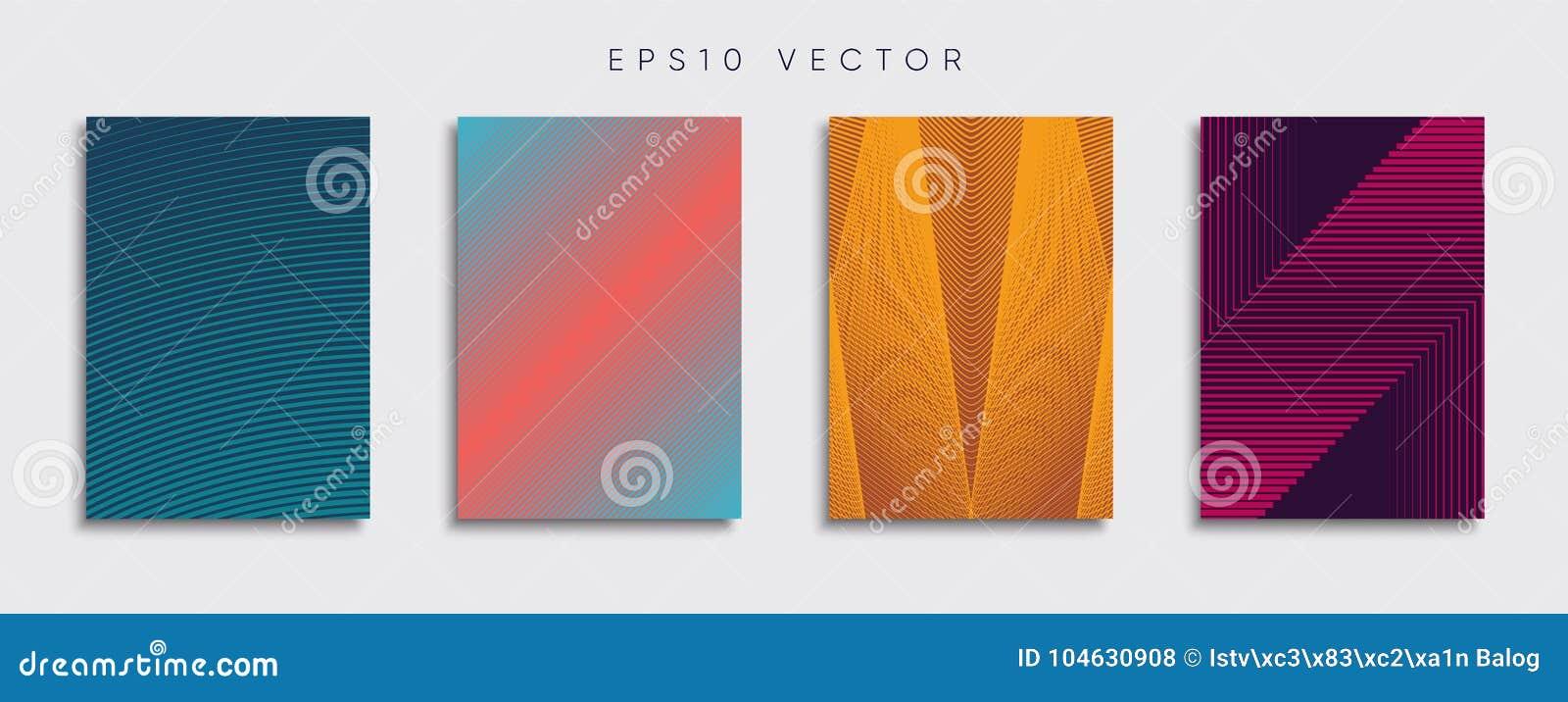 Download Origineel Nieuw Minimaal Vectordekkingsontwerp Vector Illustratie - Illustratie bestaande uit dekking, minimaal: 104630908