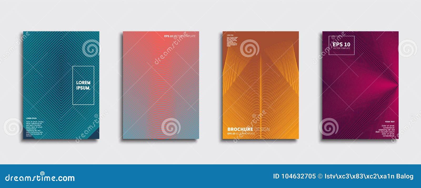 Download Origineel Nieuw Minimaal Vectordekkingsontwerp Vector Illustratie - Illustratie bestaande uit kinderen, brochure: 104632705