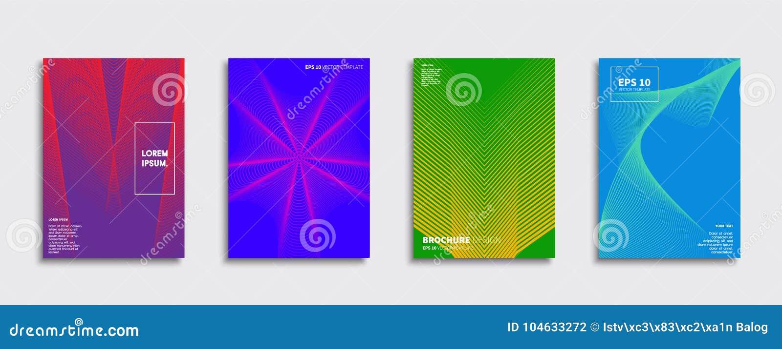 Download Origineel Nieuw Minimaal Vectordekkingsontwerp Vector Illustratie - Illustratie bestaande uit dynamisch, ontwerp: 104633272