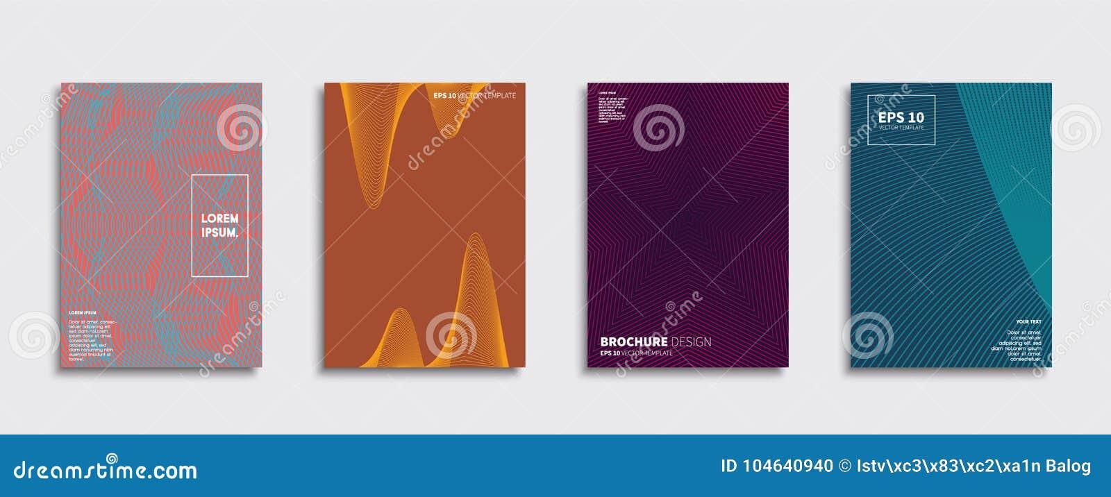 Download Origineel Nieuw Minimaal Vectordekkingsontwerp Vector Illustratie - Illustratie bestaande uit koel, brochure: 104640940