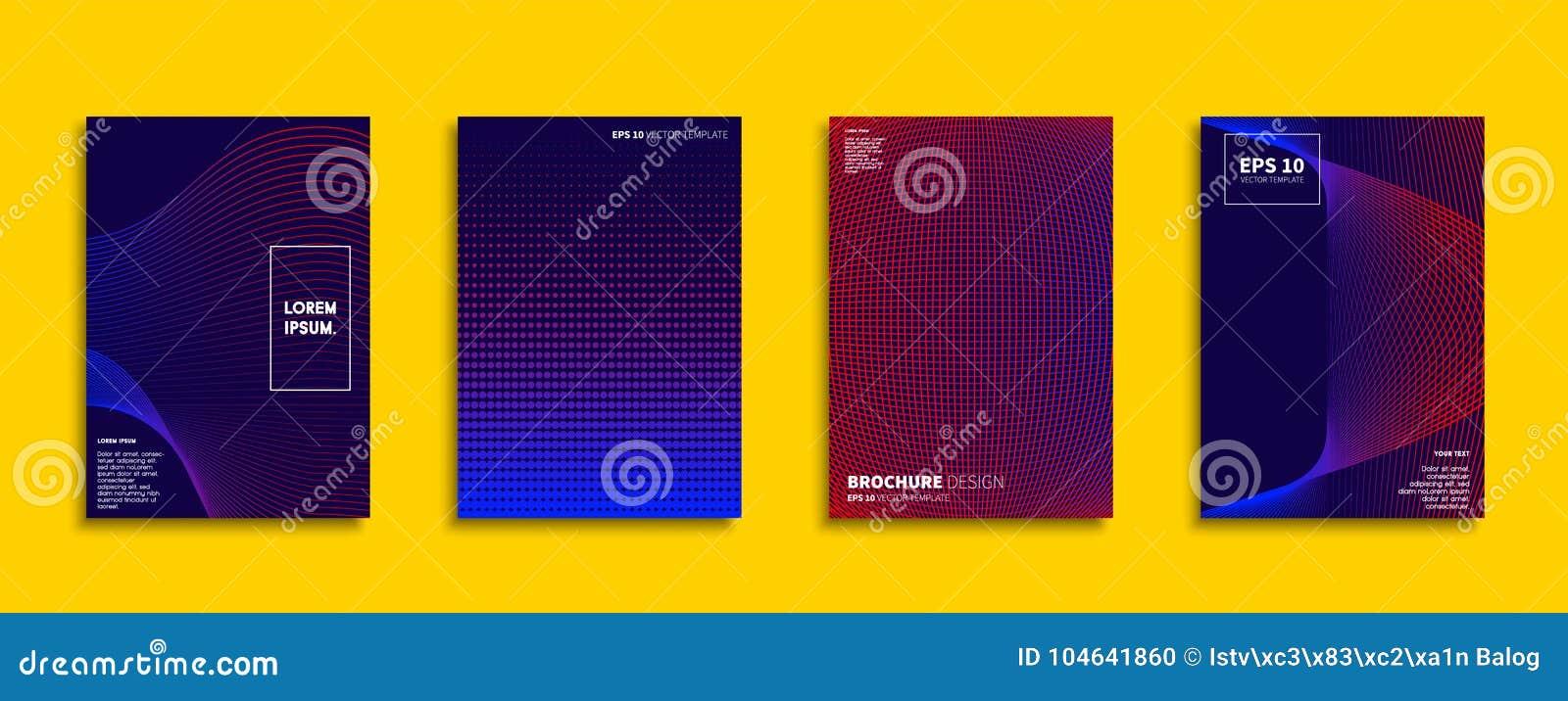 Download Origineel Nieuw Minimaal Vectordekkingsontwerp Vector Illustratie - Illustratie bestaande uit brochure, lijn: 104641860