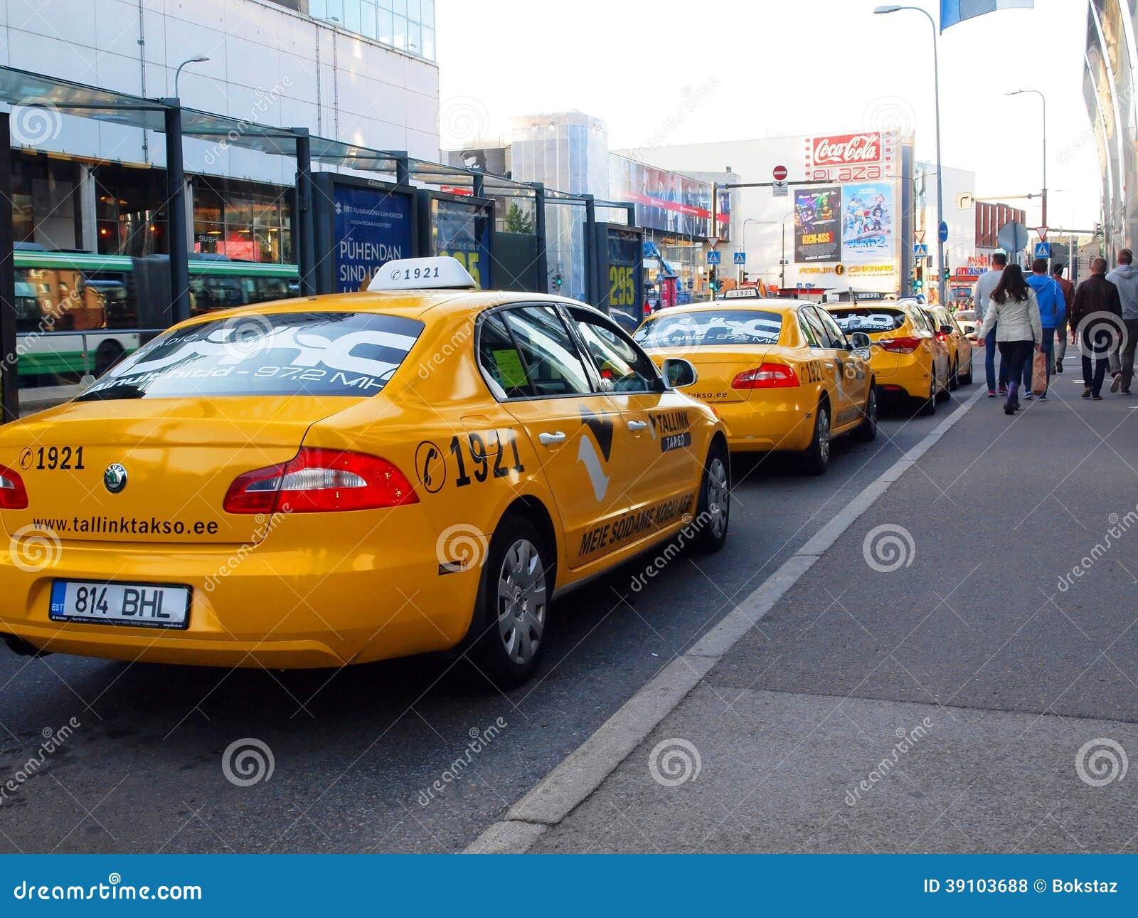 Originele gele de taxi tallink takso van Tallinn
