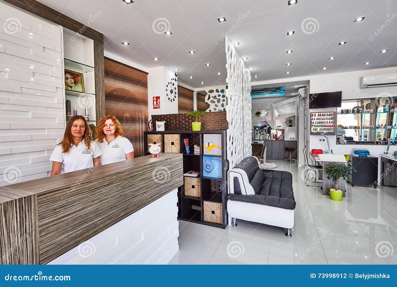 Orihuela, Spain- June 15, 2016: Beauty Salon With Modern Design In ...