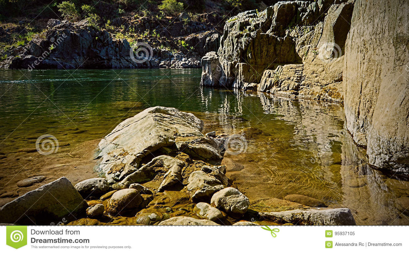 Orilla americana del río