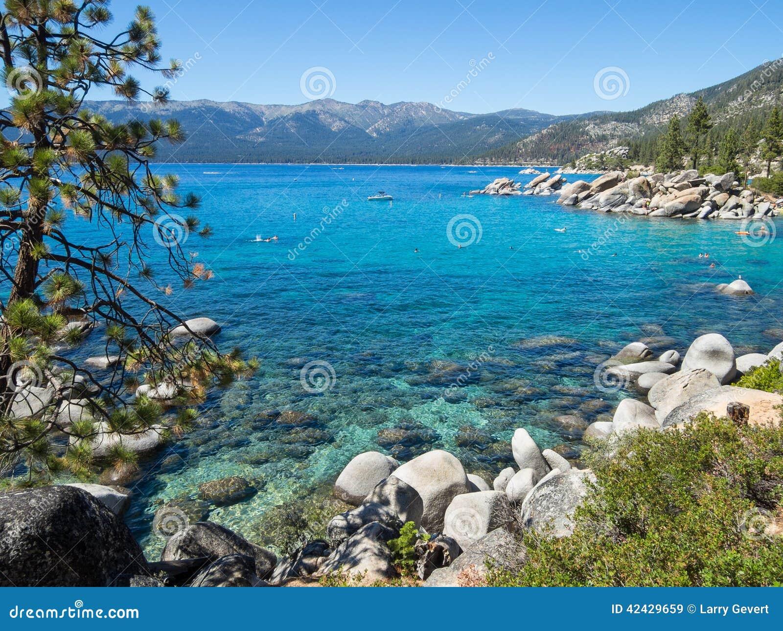 Orilla del este, el lago Tahoe