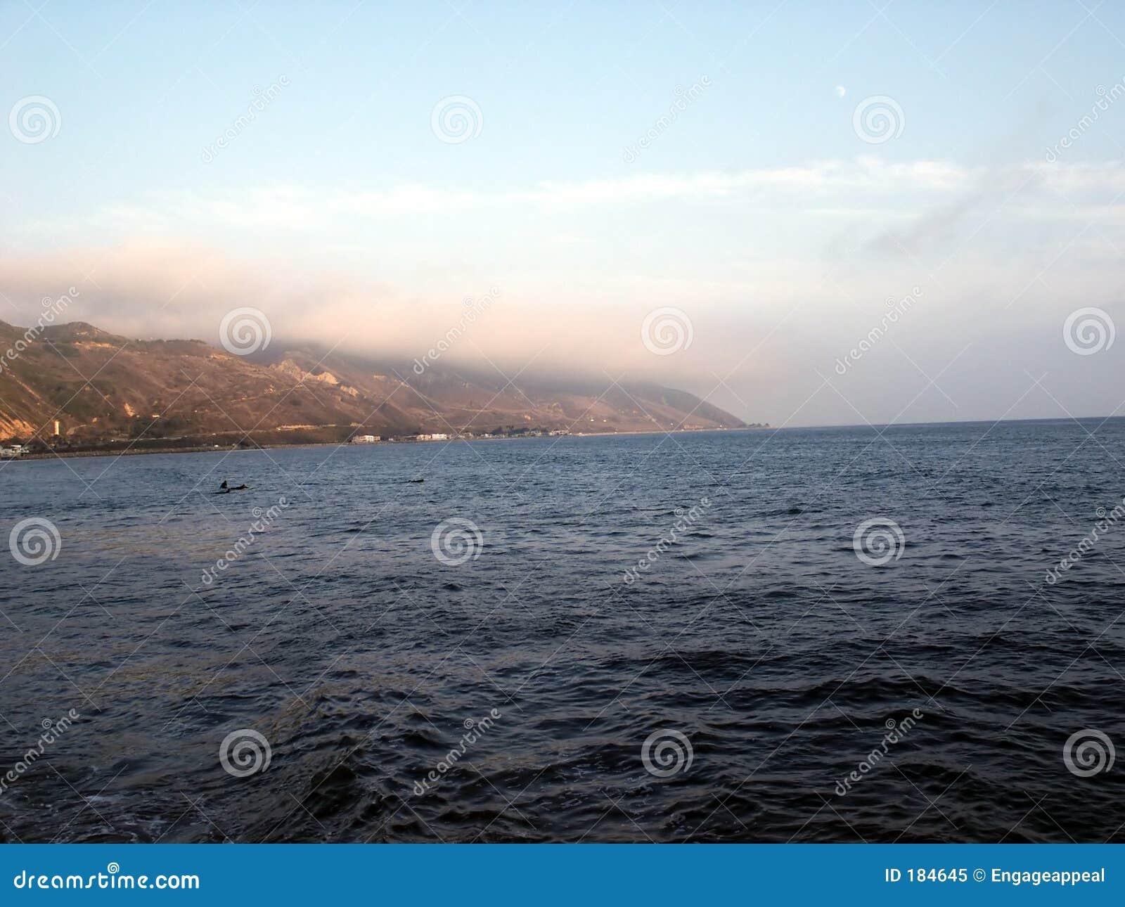 Orilla del océano de la costa