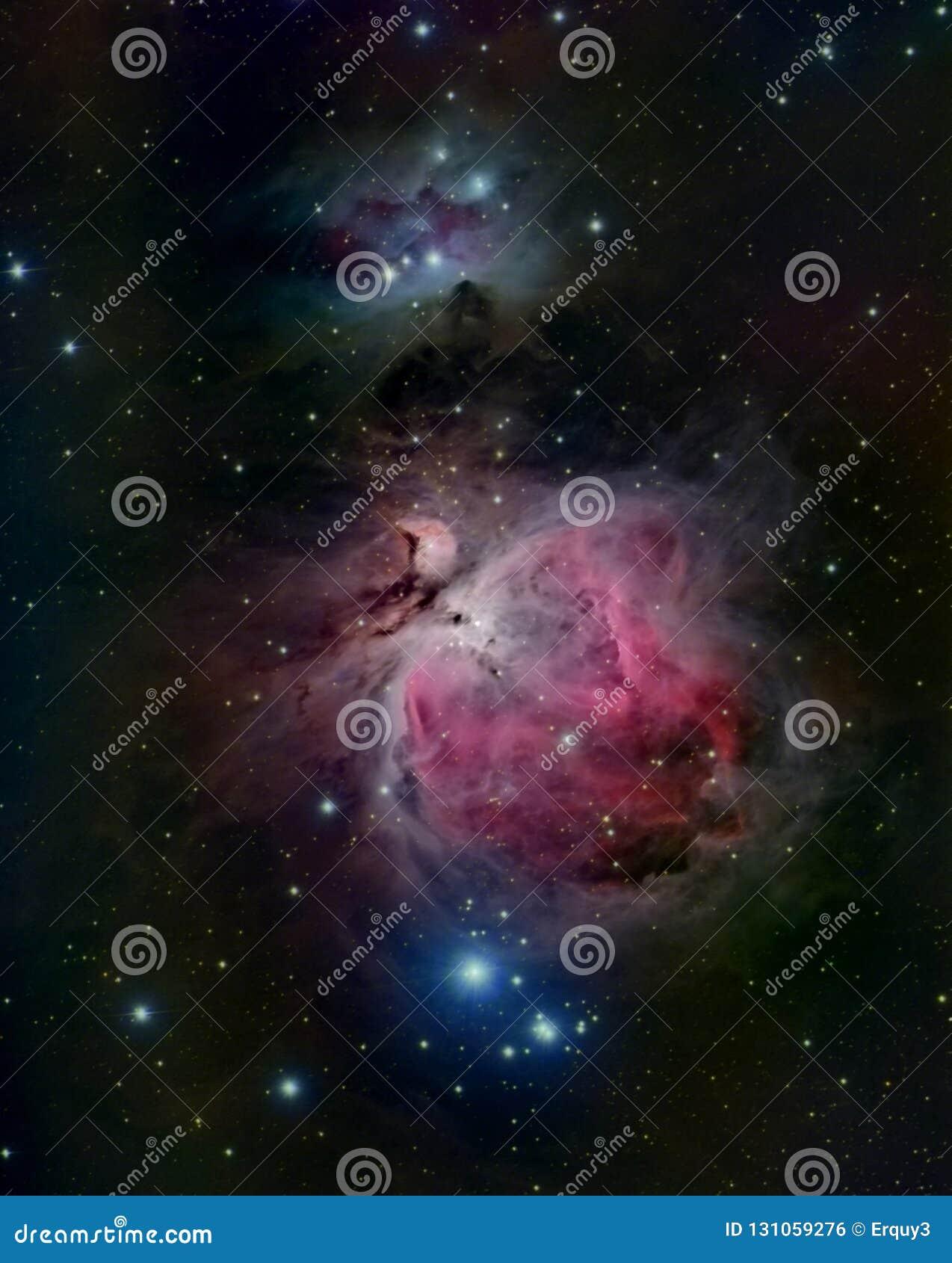 Orion Nebula en de lopende man