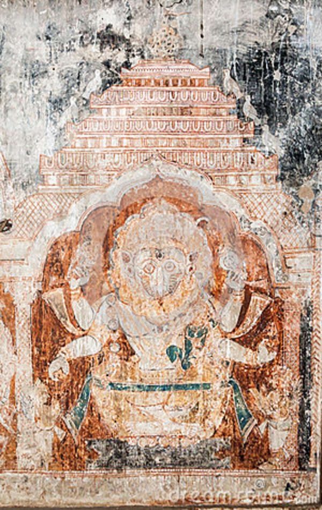 Oriyan Style Narasimha Mural. Stock Image - Image of ...