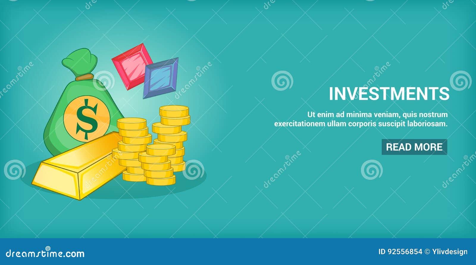 Orizzontale dell insegna di investimenti, stile del fumetto