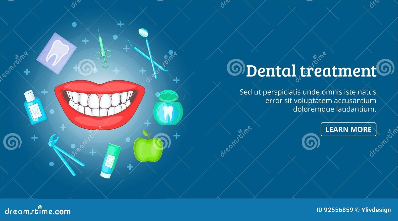 Orizzontale dentario dell insegna di trattamento, stile del fumetto