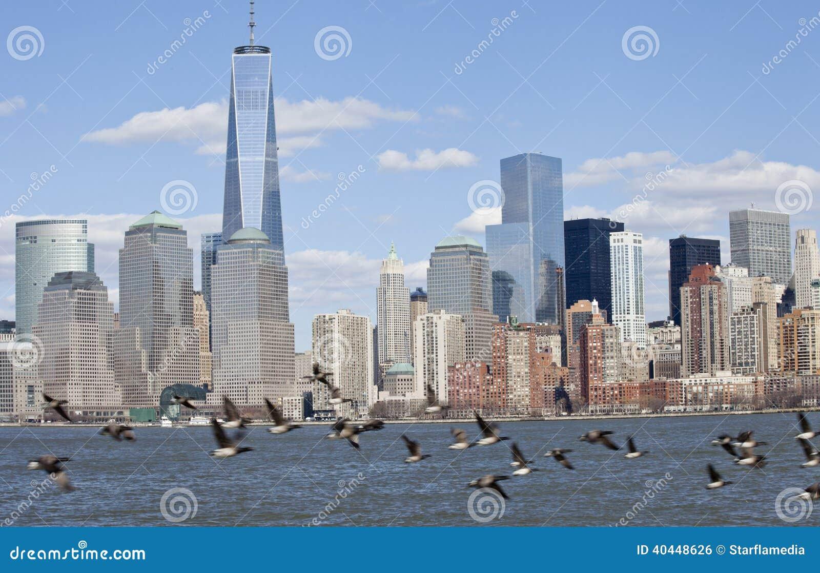 Orizzonte del centro di NYC