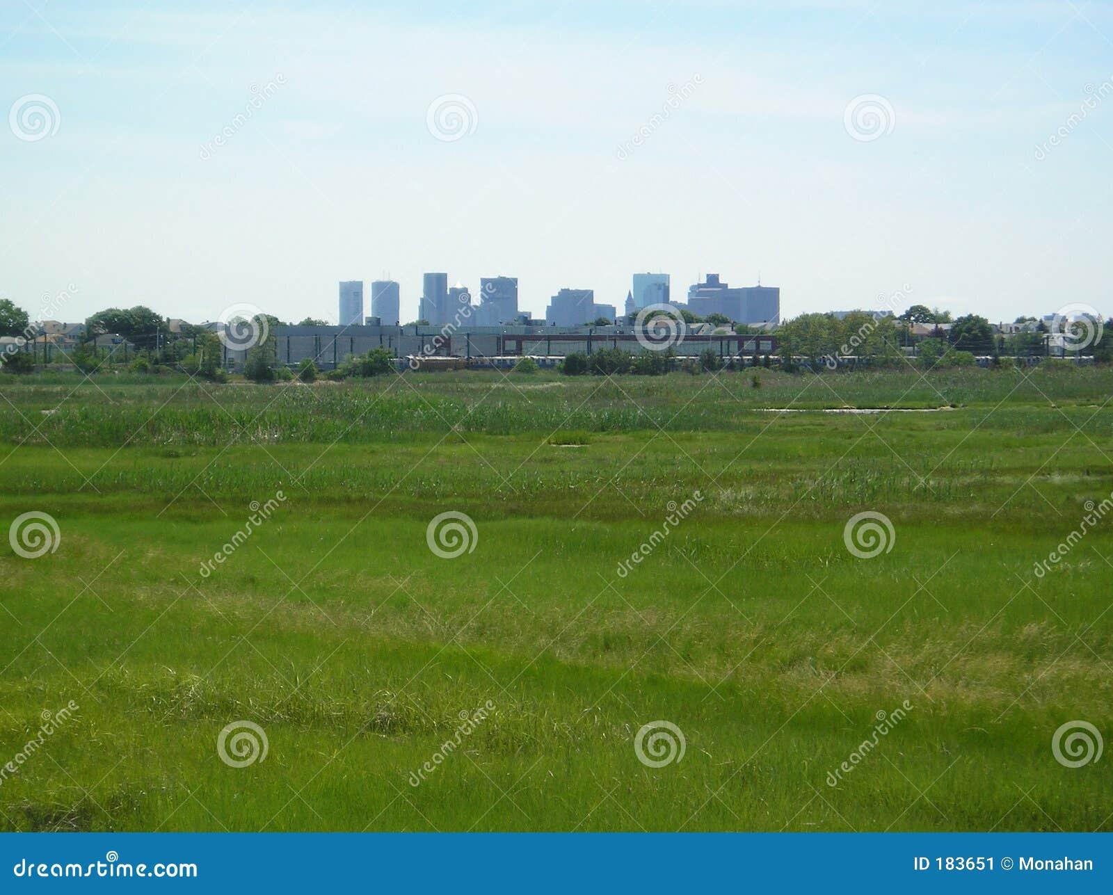 Orizzonte della città dalla sosta dell isola della reginetta