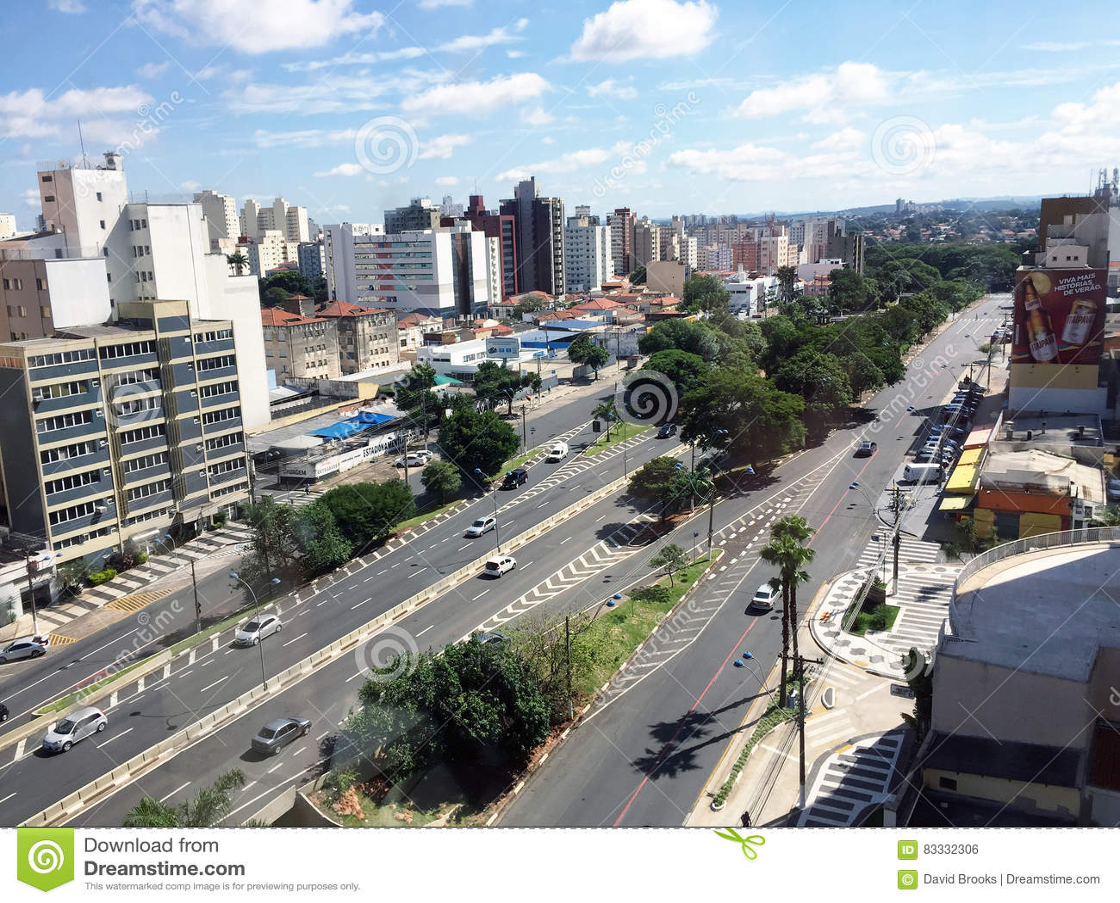 Orizzonte della città di Campinas