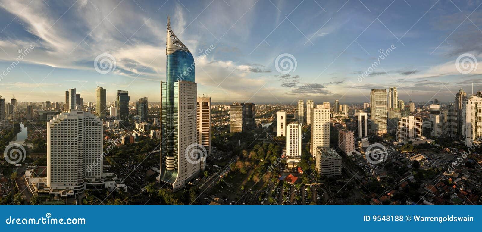 Orizzonte della città di Jakarta