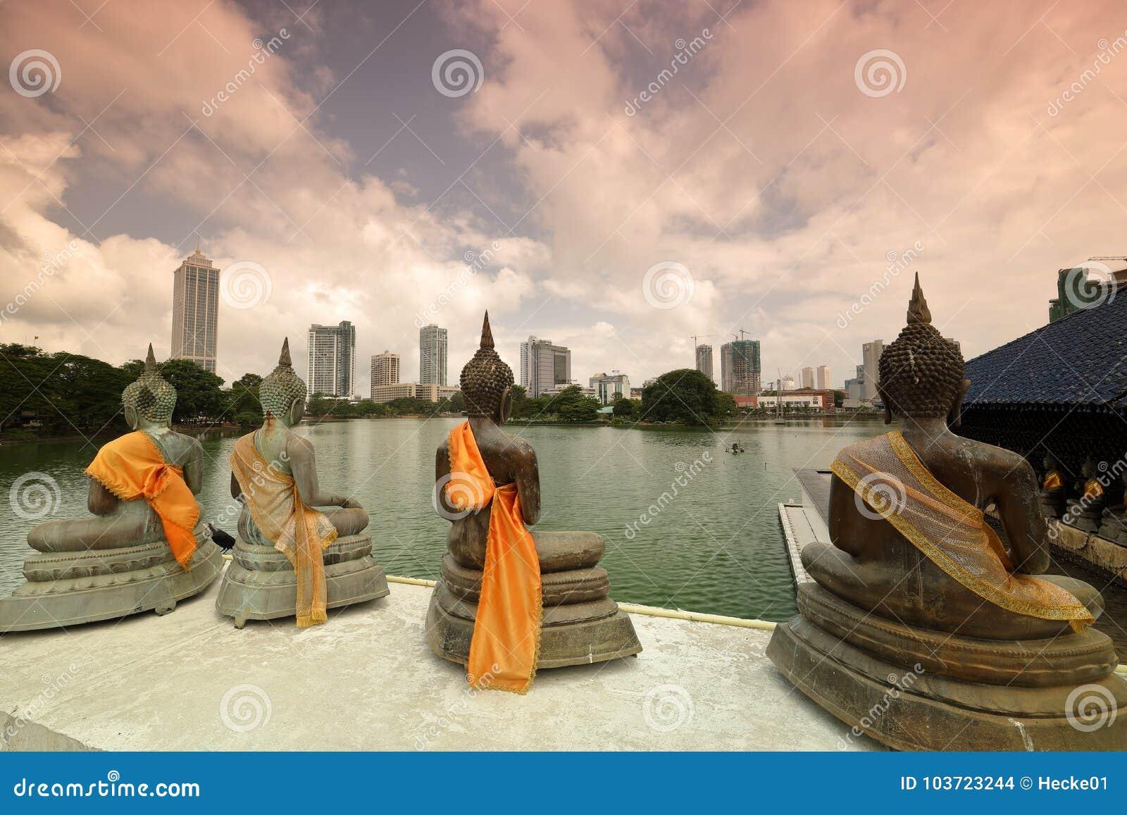 Orizzonte di Colombo nello Sri Lanka