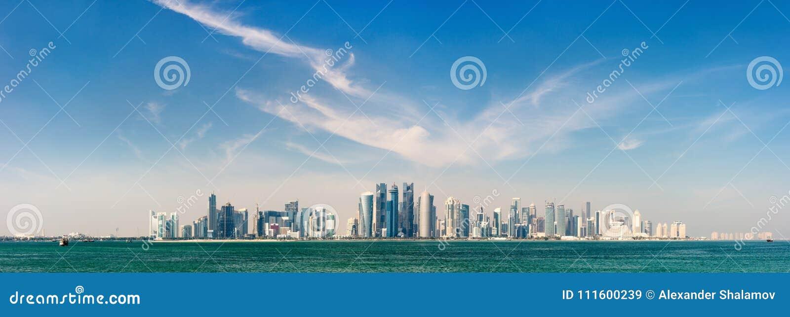 Orizzonte di Doha Qatar