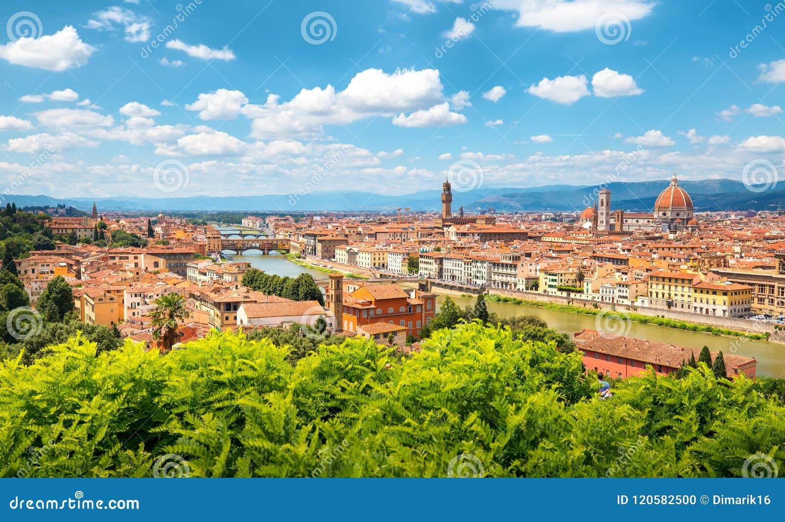 Orizzonte di Firenze un giorno soleggiato
