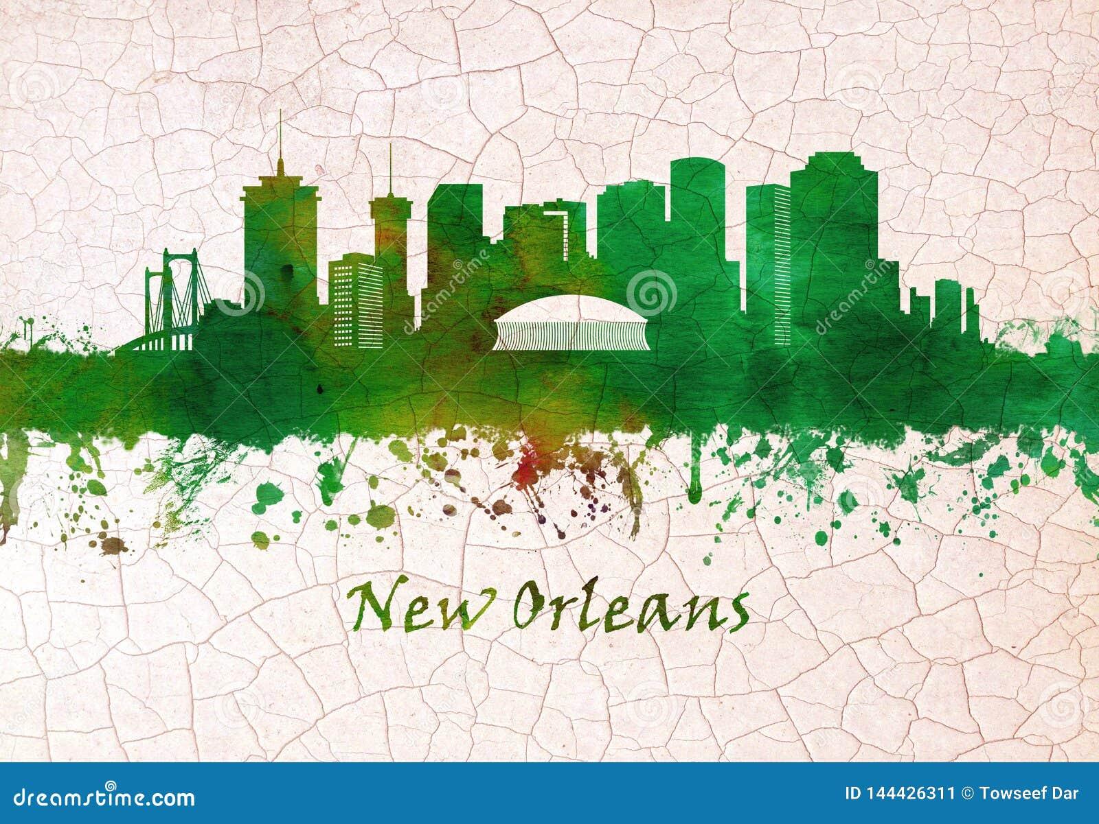 Orizzonte di New Orleans Luisiana