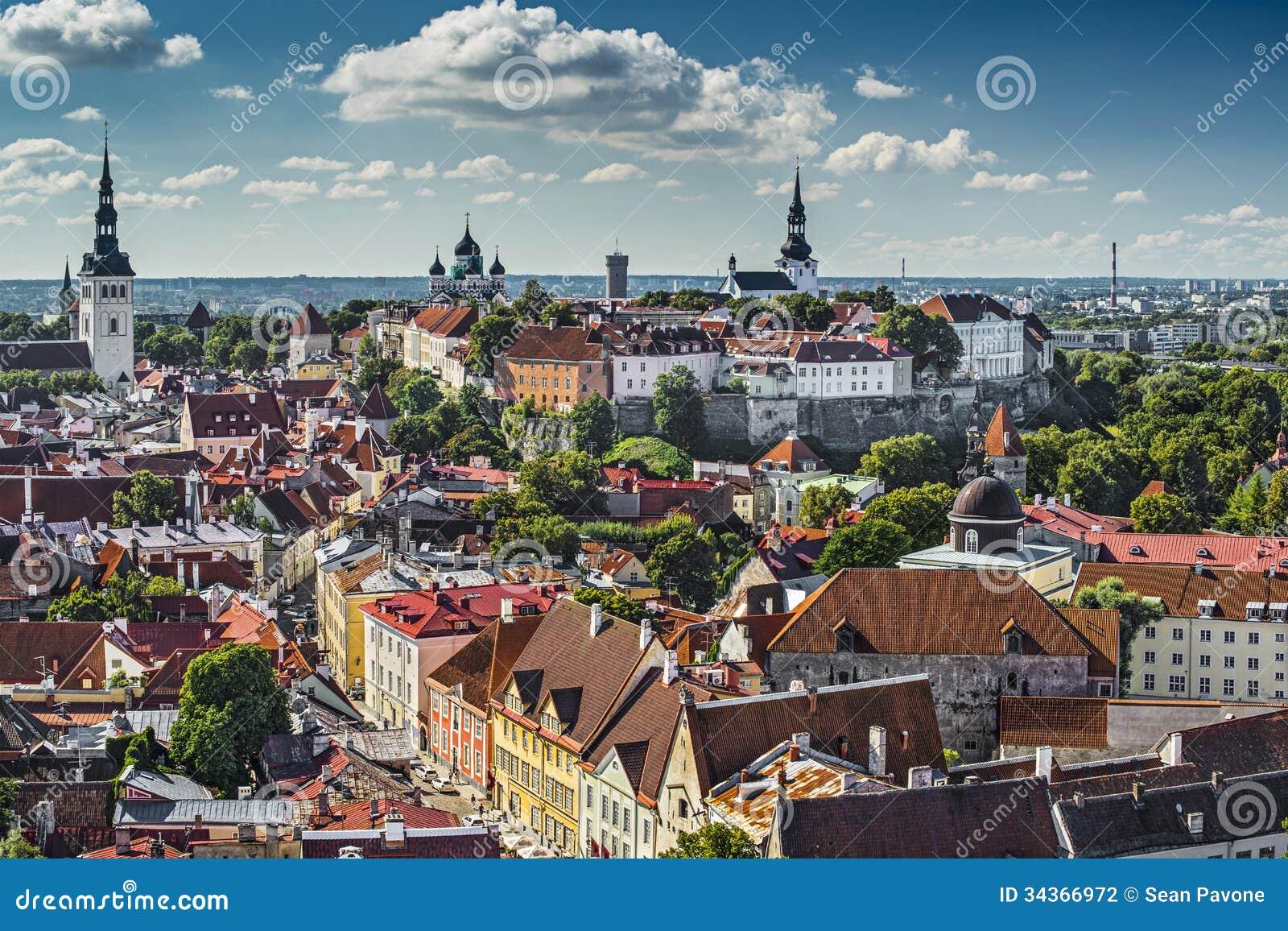 Orizzonte di Tallinn Estonia