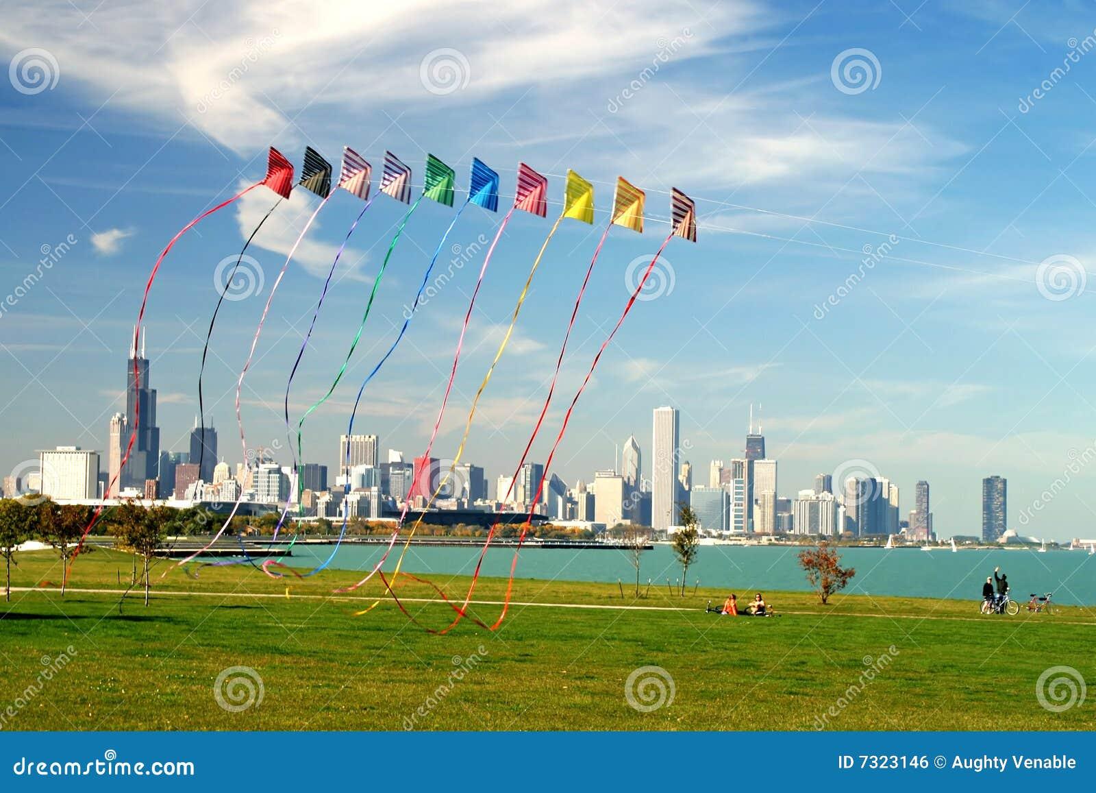 Orizzonte e cervi volanti del Chicago
