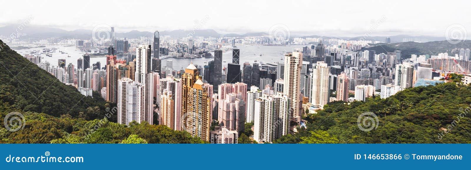 Orizzonte famoso di Hong Kong