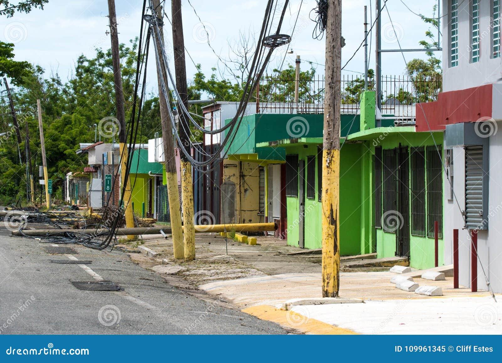 Orkaan Maria Damage in Puerto Rico